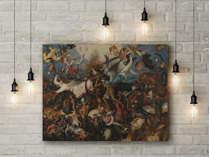 Pieter Bruegel: The Fall of the Rebel Angels. Fine Art Canvas.